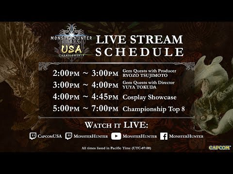 Monster Hunter: World USA Championship - July 28