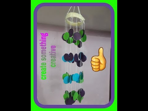 DIY- wind chimes by colour paper # home decoration # paper craft ⚘😊
