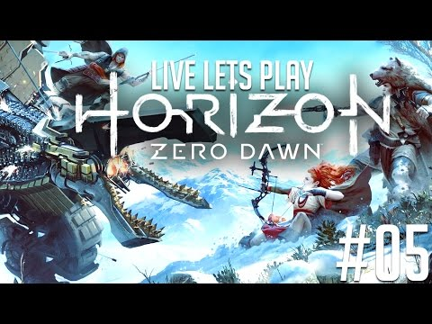 ✔️️ Horizon Zero Dawn Deutsch Live Let's Play [Schwer] #05 -
