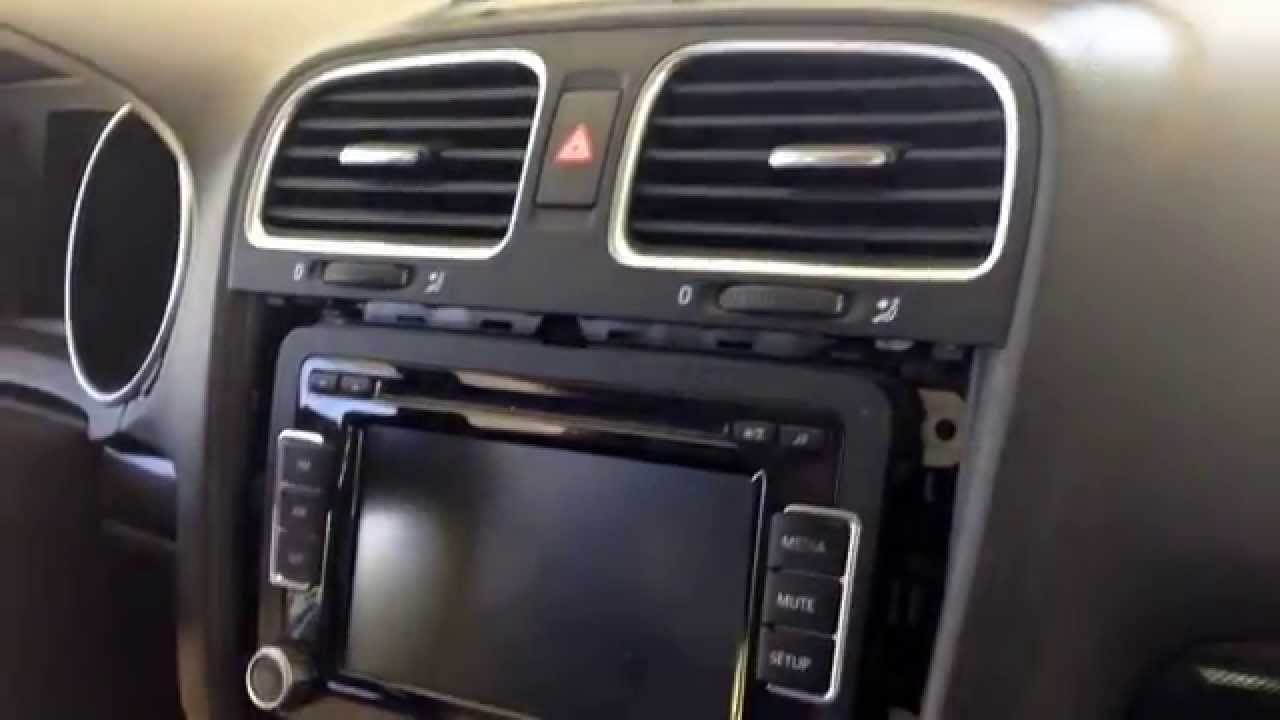 how to remove a mk6 jetta tdi sportswagon radio youtube. Black Bedroom Furniture Sets. Home Design Ideas