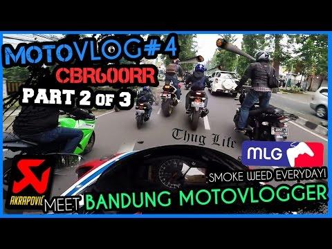 CBR600RR | Motovlog #4 (2/3) Bandung Motovloggers Ngabuburit | Akrapovic
