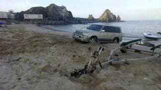 Fujairah 2014 - Safari on the beach - Застрял в песке на берегу на Крузаке