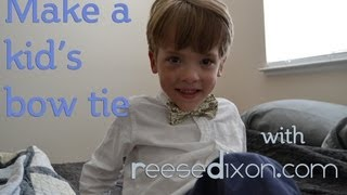 How to Make a Kid's Bow Tie