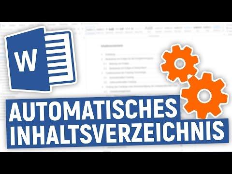 Word: Automatisches Inhaltsverzeichnis Erstellen - Tutorial