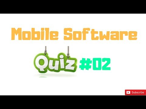 Mobile Software Quiz #02