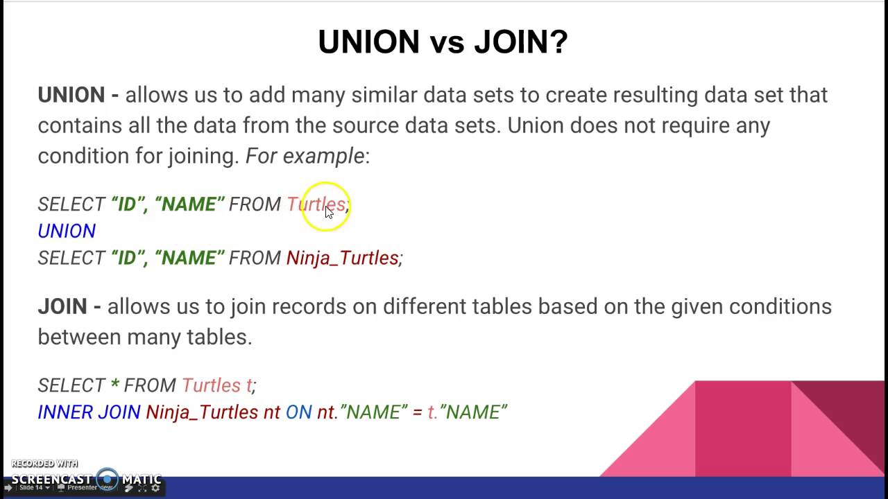 union vs join youtube