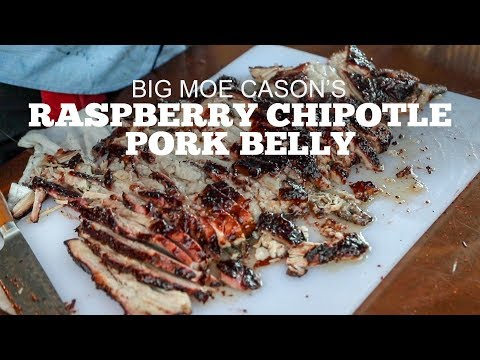 Big Moe Cason's Smoked Raspberry Chipotle Pork Belly