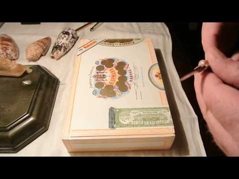 Opening a factory sealed box of Cuban H. Upmann Petit Coronas - NOT JFK's favorite cigar.