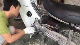 máy phát điện tự chế - biến xe máy thành máy phát điện trong 1 nốt nhạc