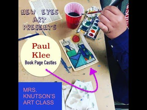 Paul Klee Book Page Castles Art Lesson