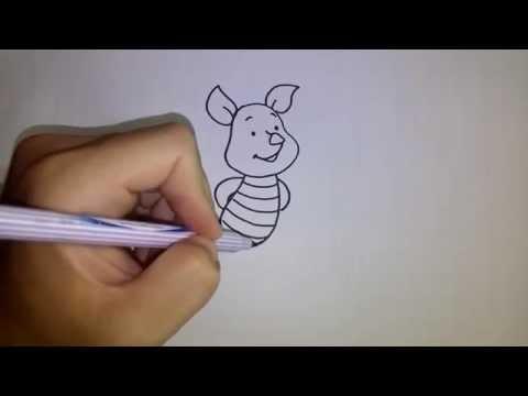 สอนวดรูปการ์ตูน พิกเล็ต Piglet Winnie the Pooh