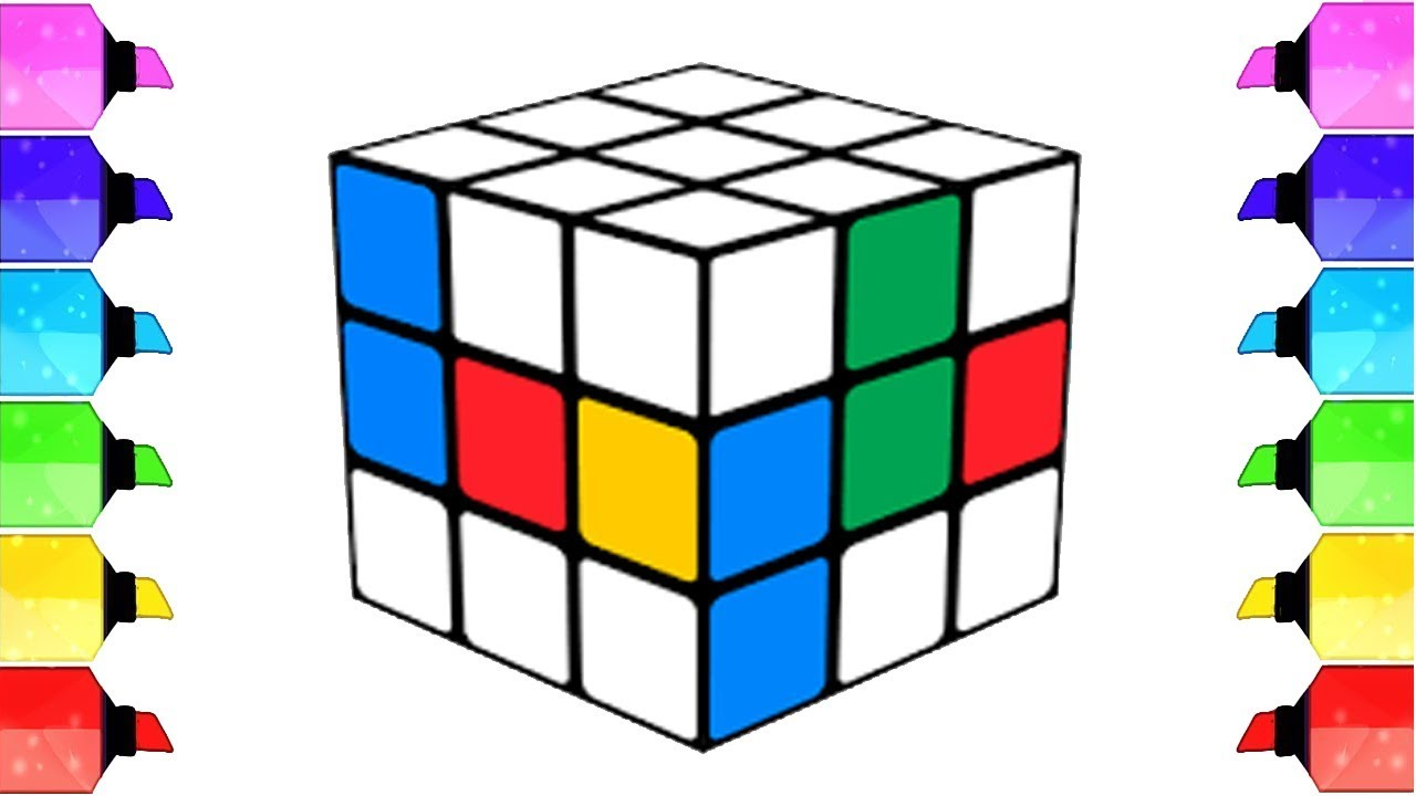 Coloring Rubik's Cube for Kids | Drawing pages to color ...