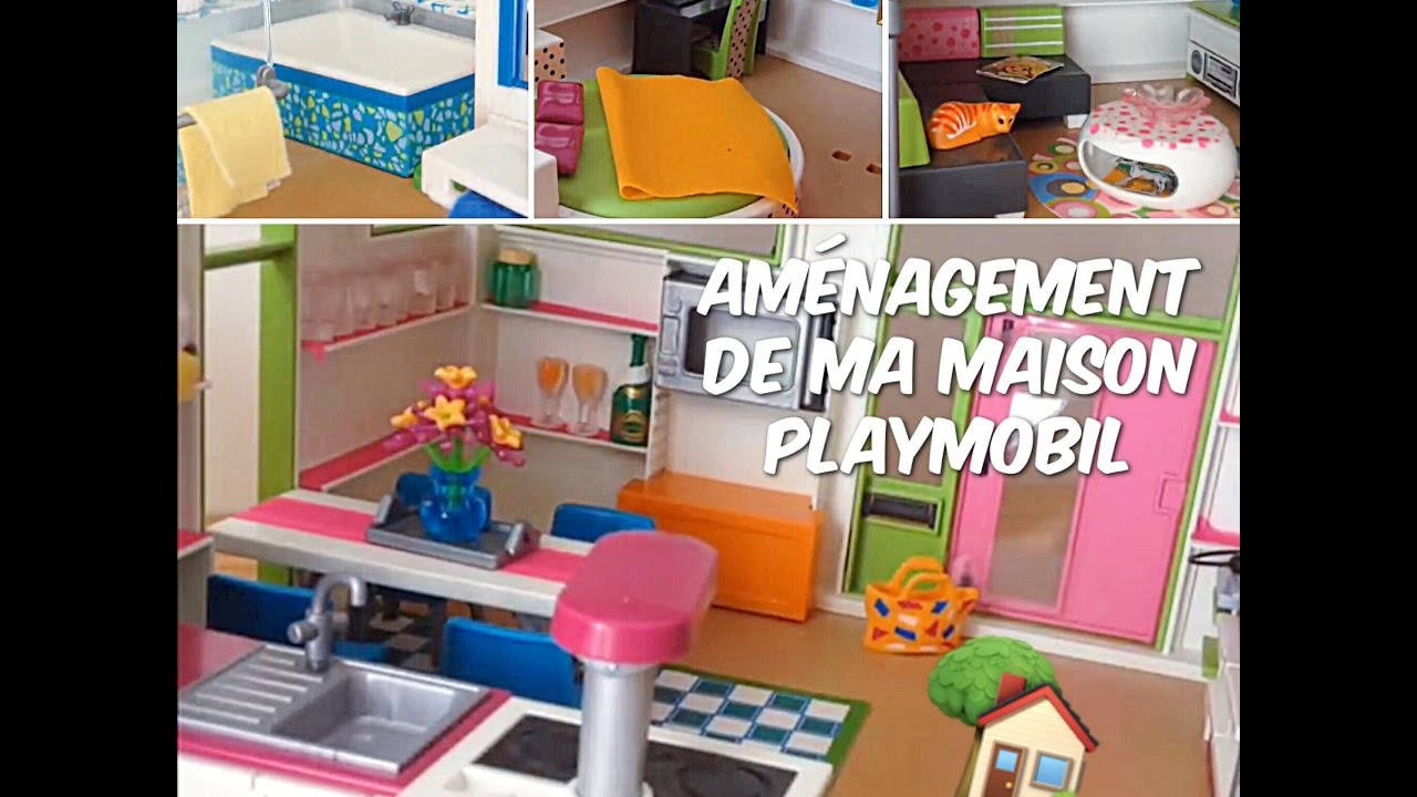 Am nagement de ma maison moderne playmobil youtube for Maison moderne playmobil