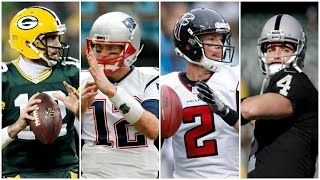 NFL MVP Predictions, Rodgers, Brady, Ryan or Carr?