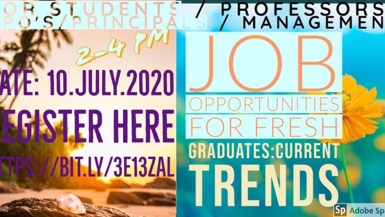 Job Opportunities for Fresh Graduates: Current Trends- An ...