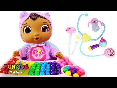 Thumbnail: LEARN COLORS Paw Patrol Skye Feeding Baby Cece Rainbow Gumballs Doc McStuffins Get Better Playset!