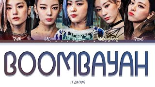 How Would ITZY Sing BOOMBAYAH BLACKPINK LYRICS+LINE DISTRIBUTION (FM)
