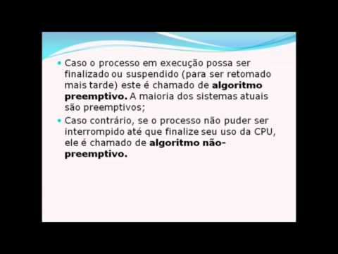 Video Aula sobre Escalonamento - SO