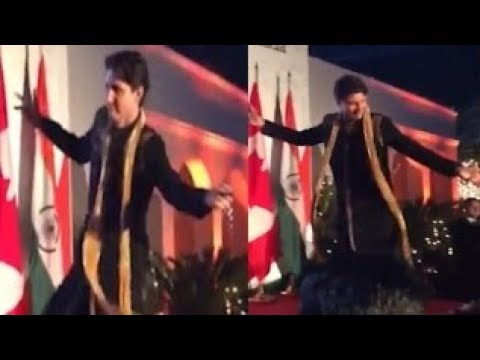 Justin Trudeau has been caught on camera dancing the bhangra at a private dinner in New Delhi