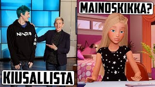 Talking about the visit to Ellenissä-gamer Ninja Fortnite.. Did you know that Barbie vlogaa?