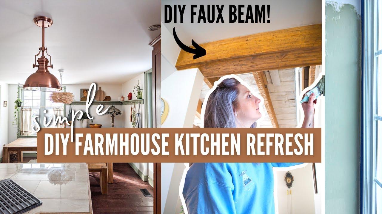 *COZY* diy farmhouse kitchen refresh!   simple diy ideas for any kitchen!   DIY Danie