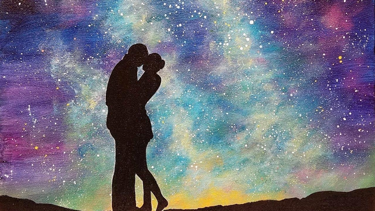 Easy Galaxy Acrylic Painting