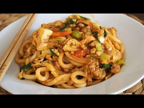 nouilles-udon-sautées-au-poulet-:-recette-facile-et-rapide-à-préparer---cooking-with-morgane