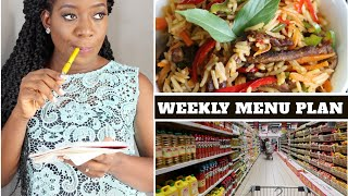 NIGERIAN WEEKLY MEAL PLANNING | NIGERIAN MENU | Menu Planning Tips