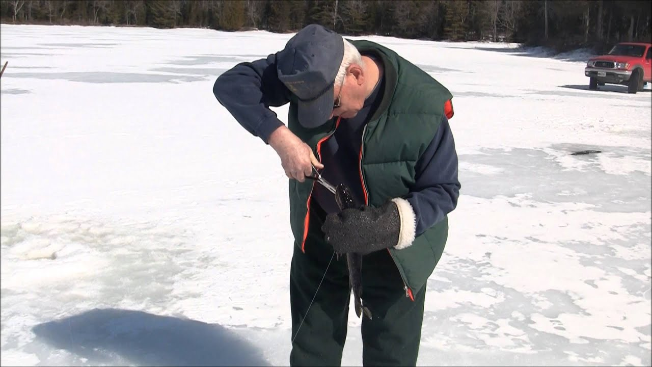 Maine ice fishing youtube for Maine out of state fishing license
