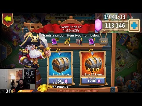 Pirate BOOTY Event Looking For Prime Hero Card 3 ONETIME Castle Clash