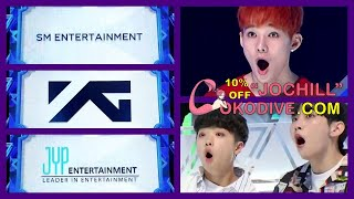 [ENG] PRODUCE X 101 Reaction to SM YG JYP Entrance
