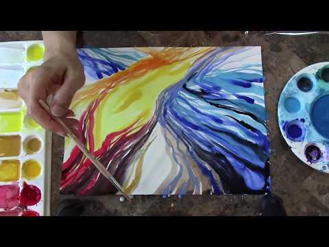 FIRE & ICE, Original Contemporary Art By Rubina