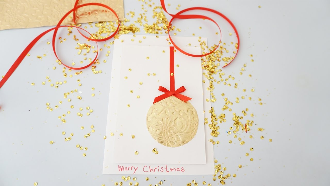 Diy Christmas Cards Diy Christmas Card Tutorials 2016 Easy Diy Christmas Card Quick