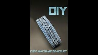 DIY/ MACRAME CUFF BRACELET/ MACRAME BEADED BRACELET