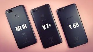 Mi A1 vs ViVo V7 Plus vs ViVo Y69 SPEED TEST | COMPARISON!