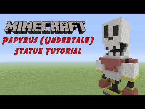 Minecraft Statue Tutorial: Papyrus (Undertale)