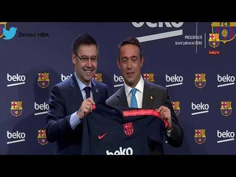 Başkanımız Ali Koç Barcelona'yla sponsorluk anlaşması imzalıyor