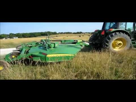 Bushhogging With John Deere 5403 And Woods Batwing Cutter