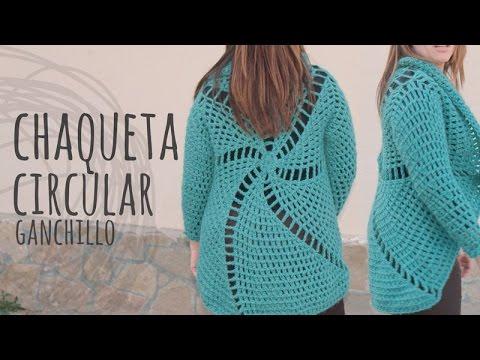Abrigo circular tejido al crochet