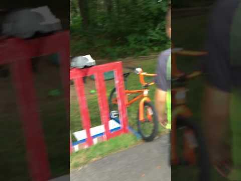 Solid wood homemade bike rack (one of a kind)