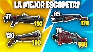 Explicación: ¿Cuál es la mejor escopeta de todas? Daños y características - Fortnite Battle Royale.