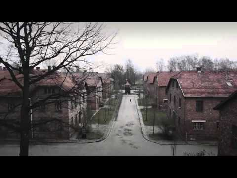 A drone in Auschwitz shows Nazi concentration camp