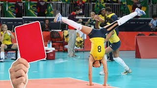 10 Red Card Point Celebrations in Volleyball (HD)