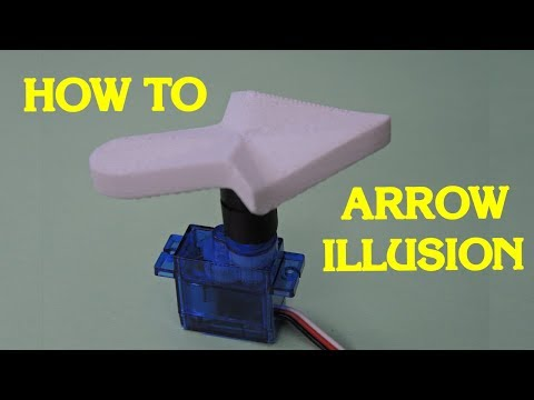How To Make The Dancing Right Arrow Optical Illusion