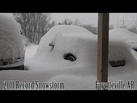 Time Lapse of Record Snow Storm in NW Arkansas