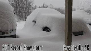 Time Lapse of Record Snow Storm in NW Arkansas thumbnail
