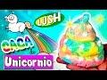 CACA de UNICORNIO DIY * BOMBA de BA�O casera LUSH