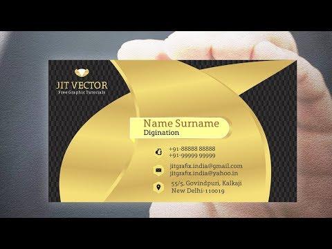 Professional Luxury Business Card Design & Modern gradient in Coreldraw v21 2019 thumbnail