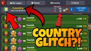 8 Ball Pool - 900M+ Giveaway! - INSANE COUNTRY GLITCH - Low Country Glitch - Topping Weakly League