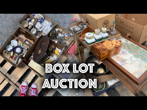 Buying Cheap Box Lots At Auction For Ebay Reselling Youtube